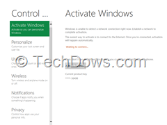 activate windows from metro interface