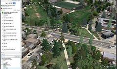 biking directions in Google Earth