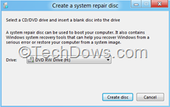 create a system repair disc