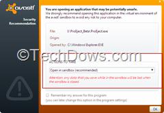 file blocked by Sandbox