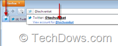 pinned Twitter tab