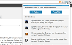 wordpress.com extension notification