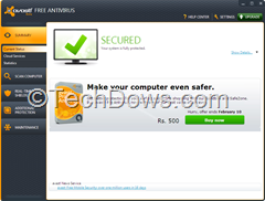 Avast 7 User interface