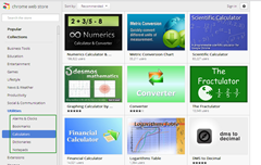 Chrome web store sub category