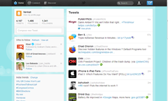 New Twitter Homepage when signed-in