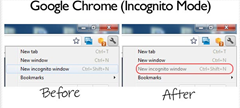 incognito mode disabled in Chrome