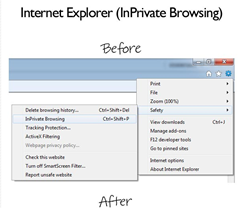 inprivate browsing removed from IE