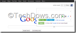 share box on Google to share on Google plus