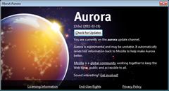 Firefox 13 aurora