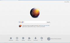 Firefox 13 redesigned homepage