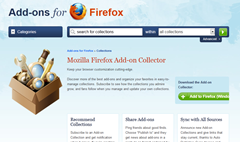 Firefox add-on collector