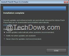 choose flash player update method