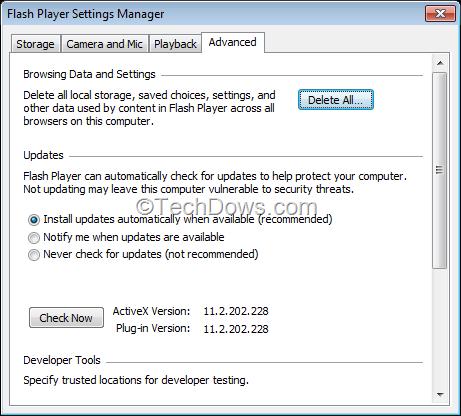 how to make flash player work on windows offline