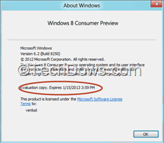 windows 8 consumer preview expiry date