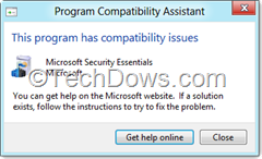 MSE has compatibility issues thumb Microsoft Security Essentials is not Compatible with Windows 8