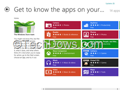 metro apps already installed on Windows 8