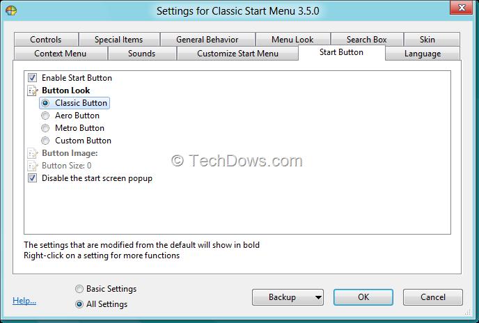 Get Classic Start Menu and Start Orb in Windows 8 Consumer