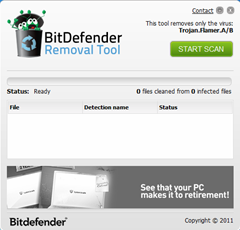 BitDefender Removal tool for Flamer