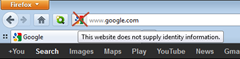Google site favicon in location bar