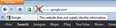 Google site favicon in location bar