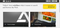 Yahoo Axis page
