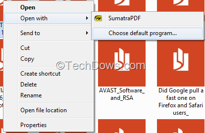 how to change the default pdf reader in windows 8