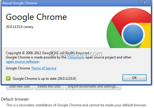 How to Set Google Chrome Canary As Default Browser in Windows