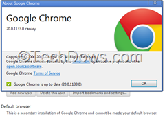 chrome canary settings page thumb How to Set Google Chrome Canary As Default Browser in Windows