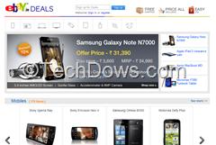eBay.in Deals page