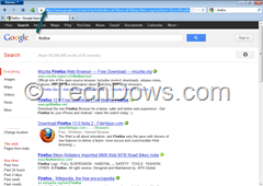 firefox 14 providing search results via secure Google search