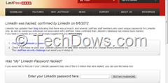 LinkedIn Password check in LastPass