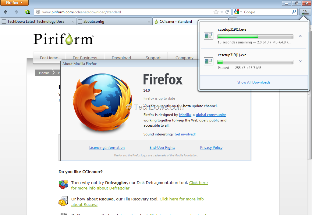 First Look at Panel-Based Download Manager in Firefox 14 Beta