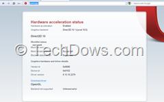 Opera's  hardware acceleration status