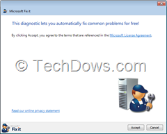 Microsoft Malware Prevention Troubleshooter Fix It Tool