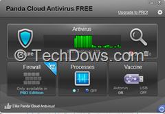 Panda Cloud Antivirus 2 UI