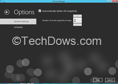 RecImg Manager options thumb RecImg Manager : Restore and Reinstall Windows 8 without losing Installed Programs and Personal Files