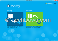 RecImg Manager thumb RecImg Manager : Restore and Reinstall Windows 8 without losing Installed Programs and Personal Files
