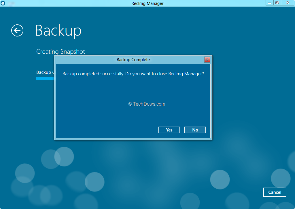 how to delete backup files on windows 8