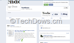 facebook page with auto published blog post