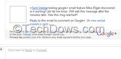 reply to Google plus email