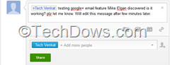 sending email from Google plus