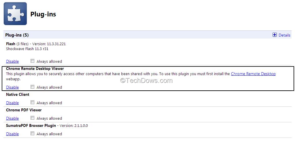 chrome plugins enable pdf viewer