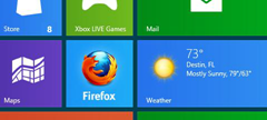 Firefox tile on Windows 8 modern ui