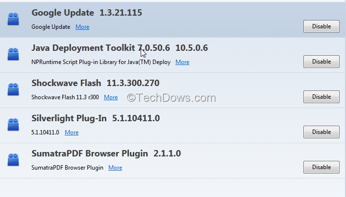 Remove Java Deployment Toolkit Plugin in Firefox in a Easy Way