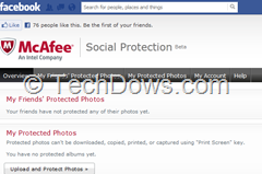 McAfee Social Protection thumb McAfee Social Protection App for Facebook Now Available