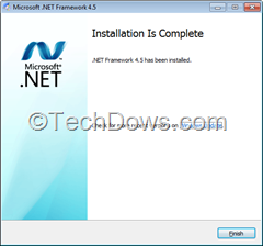 .NET Framework 4.5 installation completed