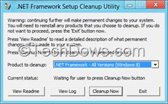 .NET Framework setup cleanup tool