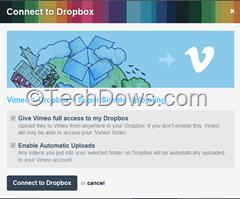 Vimeo Dropbox