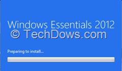 Windows Essentials 2012 install dialog
