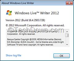 Windows Live Writer  2012